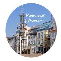 Flaschenöffner mit Magnet - Moin aus Aurich- Marktplatz Aurich