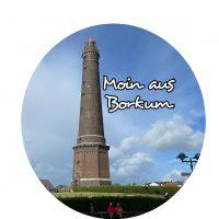 Flaschenöffner mit Magnet - Moin von Borkum - neuer Leuchtturm